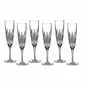 Waterford Lismore Diamond Flute Champagne - Set of 6