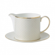 Wedgwood Arris Sauce Jug & Stand