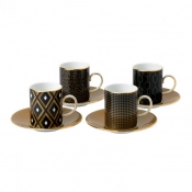 Wedgwood Arris Accent Espresso Cup & Saucer - Set 4