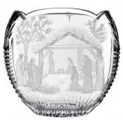 Waterford Engraved Nativity Oval Bowl