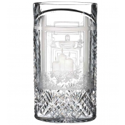 Waterford Engraved Joy Through the Window Oval Vase