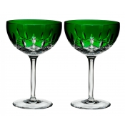 Waterford Lismore Pops Cocktail /Pair - Emerald
