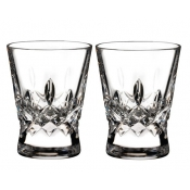 Waterford Lismore Pops Double Old Fashion / Pair - Clear