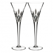 Waterford Lismore Pops Toasting Flute /Pair - Clear