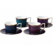 Wedgwood Byzance Accent Tea Cup & Saucer