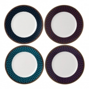 Wedgwood Byzance Accent Salad Plates / Set 4