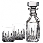 Lismore Connoisseur Square Decanter & Set 2 Tumblers