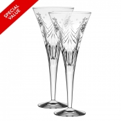 Waterford Christmas Night Toasting Flutes - Pair