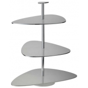 Ercuis Nuages Silver Plate 3 Tiered Stand