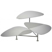Ercuis Nuages Silver Plate 3 Tiered Stand w/ Swivelling Servers