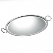 Christofle Albi Oval Tray with Handles