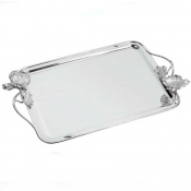 Christofle Anemone- Belle Epoque Rectangular Tray with Handles