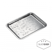 Christofle Graffiti Tray -  7 7/8 x 6 1/4""