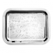 Christofle Graffiti Tray - 10 1/4 x 7 7/8