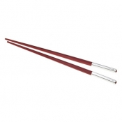 Christofle Uni Red Chinese Chopsticks
