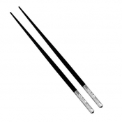 Christofle Jardin D'Eden Chinese Chopsticks / Silver