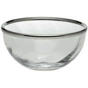 Spirale Glass Bowl With Rim