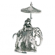 Christofle Museum Re-Edition Indra Elephant Toothpick Holder