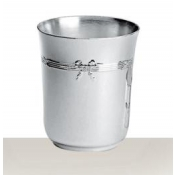 Christofle Rubans Silverplate Baby Cup