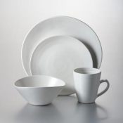 "Barre - Alabaster 4 Piece Place Setting w/6"" Cereal Bowl"