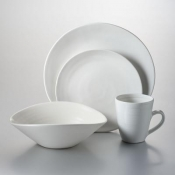 Barre - Alabaster 4 Piece Place Setting w/Pasta bowl