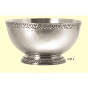 Match Pewter Engraved Rim Deep Footed Bowl
