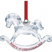 Swarovski 2019 Baby's First Christmas Rocking Horse Ornament