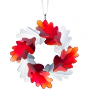 Swarovski Wreath Ornament w/ Leaves
