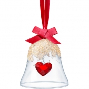 Swarovski Christmas Bell Ornament - Heart