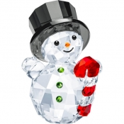 Swarovski Snowman with Candy Cane