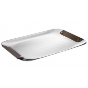 Christofle Collection Club Tray - Large / Bronze Leather
