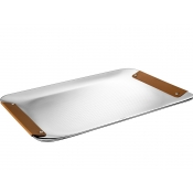 Christofle Collection Club Tray - Large  / Camel Leather