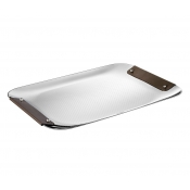 Christofle Collection Club Tray - Small / Bronze Leather