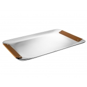 Christofle Collection Club Tray - Small / Camel Leather