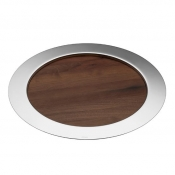Oh de Christofle Round Tray w/ Wood Insert