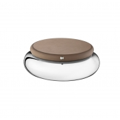 Christofle Collection Club Round Box - Small / Taupe Leather