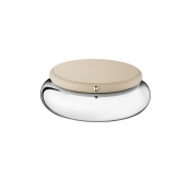 Christofle Collection Club Round Box - Small / Greige Leather