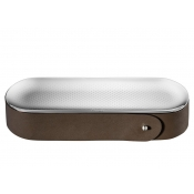 Christofle Collection Club Pencil Box / Bronze Leather