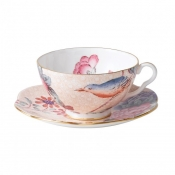 Teacup & Saucer Set / Peach
