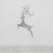 Sferra Silver Reindeer Cocktail Napkins - Set 4