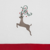 Sferra Red Reindeer Cocktail Napkins - Set 4