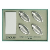 Four Rose Name Card Holders in Gift Box