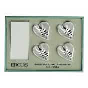 Four Begonia Name Card Holders in Gift Box