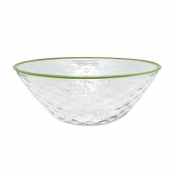 Mariposa Pineapple Texture Large Bowl - Green Rim