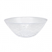 Mariposa Pineapple Texture Large Bowl - White Rim