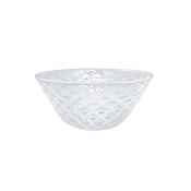 Mariposa Pineapple Texture Small Bowl - White Rim