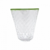 Mariposa Pineapple Texture Highball - Green Rim / Set 4