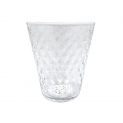 Mariposa Pineapple Texture Highball - White Rim / Set 4