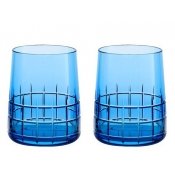 Christofle Graphik Water Glass / Pair - Blue