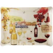 Wine Acrylic Serving Tray - Large
